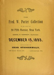 Catalogue of the collection of Fred W. Porter ... [12/16/1893]