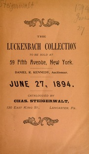 Catalogue of the collection of Charles Luckenbach ... [06/27/1894]