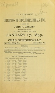 Catalogue of a collection of coins, notes, medals, etc., formed by John P. Wright ... [01/17/1895]
