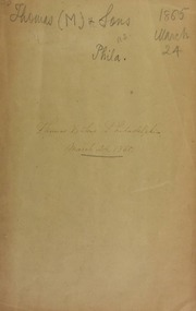 Catalogue of a collection of rare and valuable coins, American and foreign, in gold, silver, and copper, also a fine gold snuff box, gold watch ... [03/24/1865]