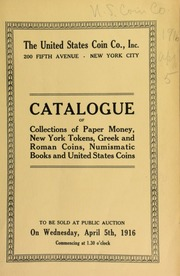 Catalogue of a collection of bank and other bills ... [04/05/1916]