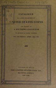 Catalogue of a collection of United States coins. [04/23/1914]