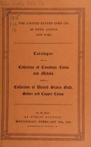 Catalogue of a collection of Canadian coins. [02/10/1915]