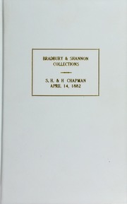 CATALOGUE OF THE COLLECTION OF AMERICAN COINS OF MR. H.B. BRADBURY, OF ILLINOIS, AND THE COLLECTION OF WAR MEDALS AND DECORATIONS OF THE LATE JOHN R. SHANNON, OF PHILADELPHIA.