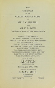 Catalogue of the Collection of Mr. P.C. Hartell and Mr. F.E. Smith, Together With Other Properties