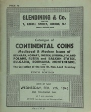 Catalogue of Continental coins, mediaeval and modern issues of Denmark, Norway, Sweden, Livonia, Finland, Poland, Russia, and Balkan states, Bulgaria, Roumania, Montenegro, etc., ... [02/07/1945]