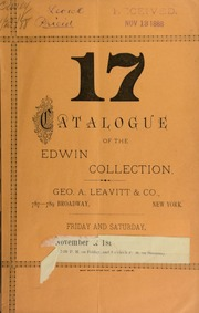 Catalogue of the Edwin collection ... [11/23/1888]