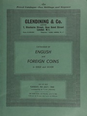 Catalogue of English and foreign coins, in gold and silver, [including] an Edward VI third period (1550-53), sovereign of twenty shillings; a Queen Mary sovereign, 1553, obv. Queen enthroned, with pomegranate; ... [07/09/1968]