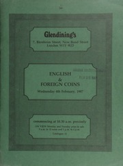Catalogue of English and foreign coins, [including] a small collection of English gold coins, sold on behalf of the Insititute of Cancer Research; and other properties,  ... [02/04/1987]