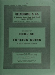 Catalogue of English and foreign coins, in gold, silver, & copper, [including] 73 lots of auction catalogues, mostly unpriced; an Elizabeth I crown, 1601, sceptre points to I in REGINA;  ... [03/10/1982]