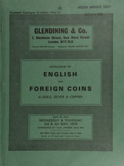 Catalogue of English and foreign coins, in gold, silver, & copper, [including] a Charles I, Nicholas Briot's coinage (1631-9) crown, obv. m.m. daisy and B; an extensive collection of 528 Irish trade tokens;  ... [05/03-04/1978]