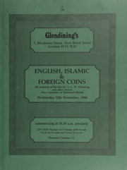 Catalogue of English, Islamic, and foreign coins, [including] coins of Africa and Asia, the property of the late Dr. I.G.W. Pickering; five lots being offered on behalf of the R.N.L.I. (Aldeburgh Guild);  ... [11/12/1986]