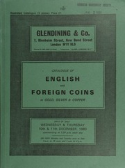 Catalogue of English and foreign coins, in gold and silver, [including] 8 lots of 157 Edward I English and Irish pennies, a twelfth draw from the Middridge Treasure Trove (1974);  ... [12/10-11/1980]