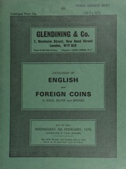 Catalogue of English and foreign coins, in gold, silver and bronze, [including] a William and Mary five guineas piece, 1691, elephant and castle below busts; a Queen Victoria specimen set of 1839 coins,  ... [02/05/1975]