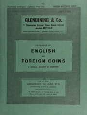 Catalogue of English and foreign coins, in gold, silver, & copper, [including] a collection of coins and medals, the property of Stowe School, Buckingham,  ... [06/07/1978]