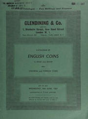 Catalogue of English coins, in gold and silver, also colonial and foreign coins, [including] the property of Mr. R.W. Dinsmore, of Los Angeles, U.S.A., [containing] the New Zealand, George V, 1935 set, including the rare Waitangi crown to threepence; [etc.] ... [06/14/1967]