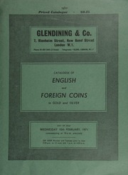 Catalogue of English and foreign coins, in gold, and silver; including a collection of English coins, sold by the executors of J.A. Gouge, deceased; [also] silver crown pieces,  ... [02/10/1971]