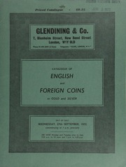 Catalogue of English and foreign coins, in gold and silver, [including] a Gaulish Armorican stater, laureate head right; gold medals, such as an Eire, gold medal commemorating Ireland's Golden Jubilee Celebrations, 1966; ... [09/27/1972]