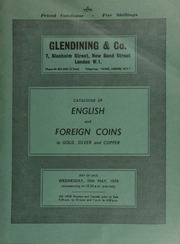 Catalogue of English and foreign coins, in gold, silver, and copper, including a Gallo-Belgic Morini stater, rev. crude disjointed horse; a set of 3 medals commemorating the 300th Anniversary of the Resettlement of the Jews in Great Britain;  ... [05/20/1970]