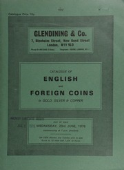 Catalogue of English and foreign coins, in gold, silver, and copper, [including] 9 lots of 161 Edward I silver pennies from the Middridge Treasure Trove (1974); [also] a Japan, Yoshihito, 20-yen, Taisho 6, 1917; [and] an Iceland 500-Kronur, 1961; [etc.] ... [06/23/1976]