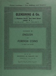Catalogue of English and foreign coins, in gold and silver, [including] a George I guinea, 1722, fourth bust; a George II five guineas, 1729, E.I.C. below bust; a George III guinea, 1798; George, Prince of Wales and Seneschal of Scotland, 1799,  ... [02/08/1967]