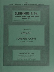 Catalogue of English and foreign coins, in gold and silver, [including] a Stephen penny, type II, cross voided and mullets, London; [and] various Edward I and Edward II pence of London and Canterbury,  ... [05/20/1969]