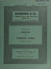 Catalogue of English and foreign coins, in gold and silver, [including] gold coins of the U.S.A.; [and] 16 lots of Long Cross pennies, a fourth parcel from the Colchester II (1969) Hoard; [etc.] ... [11/24/1971]