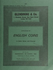 Catalogue of English coins, in gold, silver and bronze, [including] several vauable coins of Edward III; a Victoria specimen set of 1839 coins; a Cromwell crown, 1658, by Simon,  ... [03/04/1981]