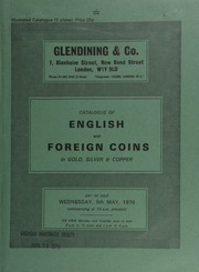 Catalogue of English and foreign coins, in gold, silver, and copper, [including] a Gallo-Belgic, Ambiani AV stater, obv. degenerate head, rev. horse left; a Southern district,  ... [05/05/1976]