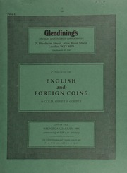 Catalogue of English and foreign coins, in gold, silver, & copper, including a selection from the Soham (Cambridgeshire) Hoard, 1985; [as well as] a National Eistenfodd Association medal, by W. Goscombe John, 1898,  ... [07/02/1986]