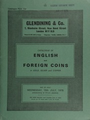 Catalogue of English and foreign coins, in gold, silver, and copper, [containing] a three-coin set of a George II proof crown, half crown, and sixpence, 1746, old head, plain; [as well as] Irish coins, primitive money, [and] medals ... [07/16/1975]