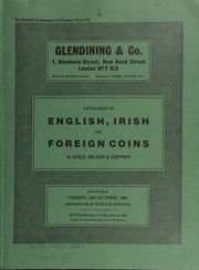 Catalogue of English, Irish, and foreign coins, in gold, silver, & copper, [including] Indian gold coins; a group of gold and silver coins of Charles I; a collection of milled half-crowns, formed by his Honour Judge Morton;  ... [10/15/1985]