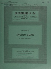 Catalogue of English coins, in gold and silver, [including] an Ancient British, the Dobunni, Bodvoc, AV stater, rev. disjointed, triple-tailed horse, wheel below; a Henry II Tealby type penny; a James I, second coinage, crown;  ... [02/01/1968]