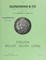 Catalogue of English milled silver coins, including crowns, from the Paget and Lingford collections; halfcrowns, [such as] 1673, with plume below bust and in center of reverse; shillings,  ... [10/30/1974]