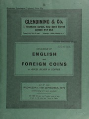 Catalogue of English and foreign coins, in gold, silver, and copper [including] Israeli commemorative medals and coins; [as well as] type sets, [such as] Edward VII (1902-1910 inclusive) [and] George V (1927-1936 inclusive); [etc.] ... [09/15/1976]