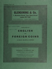 Catalogue of English and foreign coins, in gold, silver, & copper, [including] an Isle of Man, Elizabeth II proof set, 1975, comprising 50-pence to halfpenny, struck in platinum;  ... [02/05/1986]