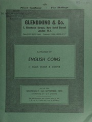 Catalogue of English coins, in gold, silver and copper, [including] sets of coins & medals, [such as] a pair of silver gilt medals commemorating the Great Fire of London, by Spink & Son;  ... [09/16/1970]