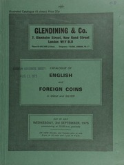 Catalogue of English and foreign coins, in gold and silver, [including] the property of the Lord Hylton, [containing] a Queen Anne five guineas, 1706; [and] other properties,  ... [09/03/1975]