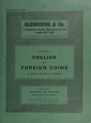 Catalogue of English and foreign coins, in gold, silver, & copper, [including] an Oliver Cromwell, crown, 1658, by Simon, ex. R.H. Stone collection,  ... [06/05/1985]