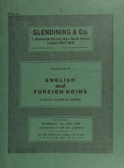 Catalogue of English and foreign coins, in gold, silver, & copper, [including] a collection of 314 Indian coins; [and another of] 158 coins of the Islamic dynasties; [as well as] a wooden drop-fronted cabinet, containing various Oriental coins, mostly base; [etc.] ... [06/04/1986]