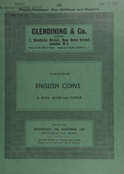 Catalogue of English coins, in gold, silver and copper; [including] a Henry IV York noble, annulet issue; a Queen Anne five-guineas piece, 1709, larger lettering; [as well as] a collection of sovereigns of the London, Melbourne, Sydney, and Perth mints; [etc.] ... [11/13/1968]
