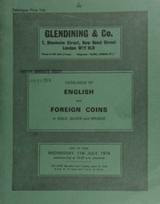Catalogue of English and foreign coins, in gold, silver, and bronze, [including] 10 lots of English silver from the Broadwoodwidger Treasure Trove (Lifton, Devon) ; a Charles I, Oxford mint, pound piece, 1643, large horse riding over arms;  ... [07/11/1974]