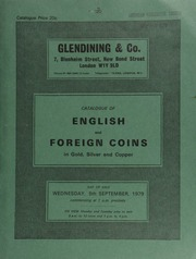 Catalogue of English and foreign coins, in gold, silver, and copper, [including] medals commemorating the 900th anniversary of Westminster Abbey, 1965, and the Battle of Hastings, 1966; Tonga proof sets of coins, Queen Salote, 1967;  ... [09/05/1979]
