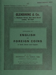 Catalogue of English and foreign coins, in gold, silver, & copper, [including] George V patterns, 1925, by Kruger Gray and Bertram MacKennal, in nickel, comprising a shilling, sixpence, and threepence,  ... [03/12/1980]