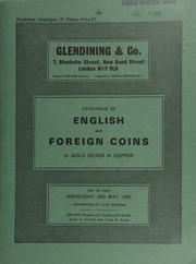 Catalogue of English and foreign coins, in gold, silver, & copper [including] an Elizabeth fifth issue sovereign of thirty shilllings, back of throne decorated by annulets, scratches on Queen's robes; ... [05/25/1983]