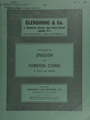 Catalogue of English and foreign coins, in gold and silver, [including] commemorative medals, [such as] a Queen Anne, Peace of Utrecht, 1713, gold medal by John Crocker;  ... [09/22/1971]
