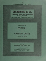 Catalogue of English and foreign coins, in gold and silver, [including] a Queen Elizabeth I pound, of twenty shillings, 1602; a Queen Victoria 1853 specimen set; gold medals,  ... [06/14/1972]