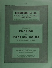 Catalogue of English and foreign coins, in gold, silver, & copper, [including] 42 Hiberno-Norse pennies from the Dunbrody Hoard (Co. Wexford, 1837), deposited c. 1050; [and] 9 lots of 131 Edward I pennies,  ... [06/29/1977]