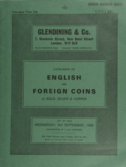 Catalogue of English and foreign coins, in gold, silver, & copper, including an Edward IV, first reign, ryal, Flemish imitation, crown on reverse only; a George I crown, 1723;  ... [09/03/1980]