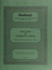 Catalogue of English and foreign coins, in gold, silver, & copper, including the final selection from the Soham (Cambridgeshire) Hoard, 1985; Anglo-Saxon coinage,  ... [09/10/1986]